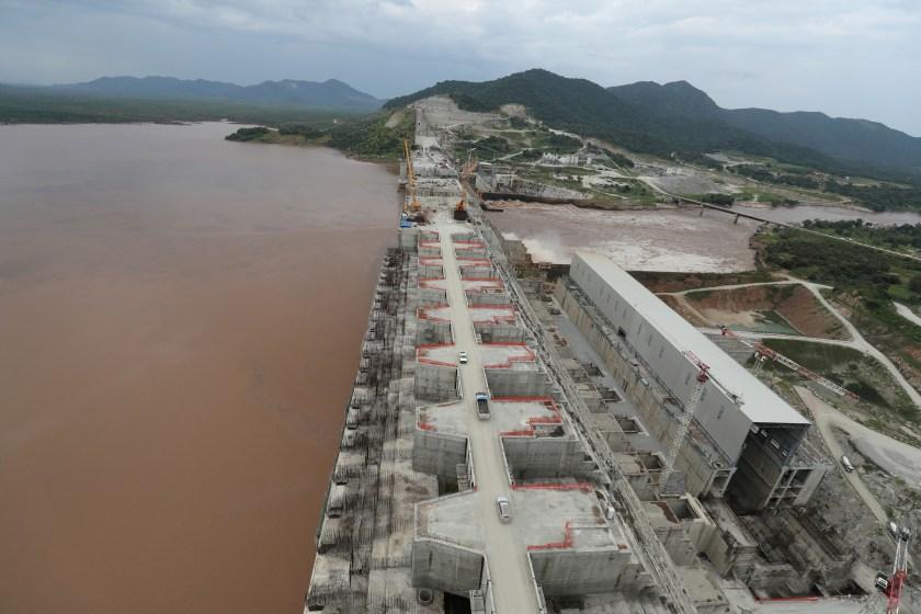Ethiopia's Grand Renaissance Dam is seen as it undergoes construction work on the river Nile in Guba Woreda, Benishangul Gumuz Region, Ethiopia September 26, 2019. REUTERS/Tiksa Negeri/File Photo