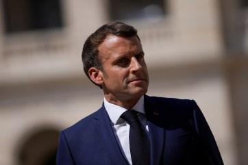 French President Emmanuel Macron.  Daniel Cole/Pool via REUTERS