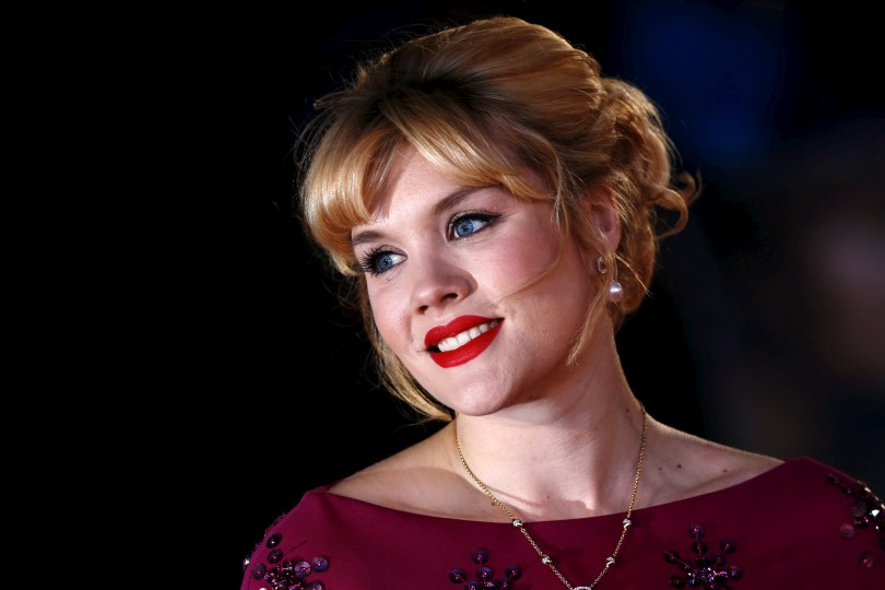 """Actress Emerald Fennell poses she arrives for the UK premiere of """"The Danish Girl"""" at Leicester Square in London, Britain, December 8, 2015. REUTERS/Luke MacGregor/File Photo"""