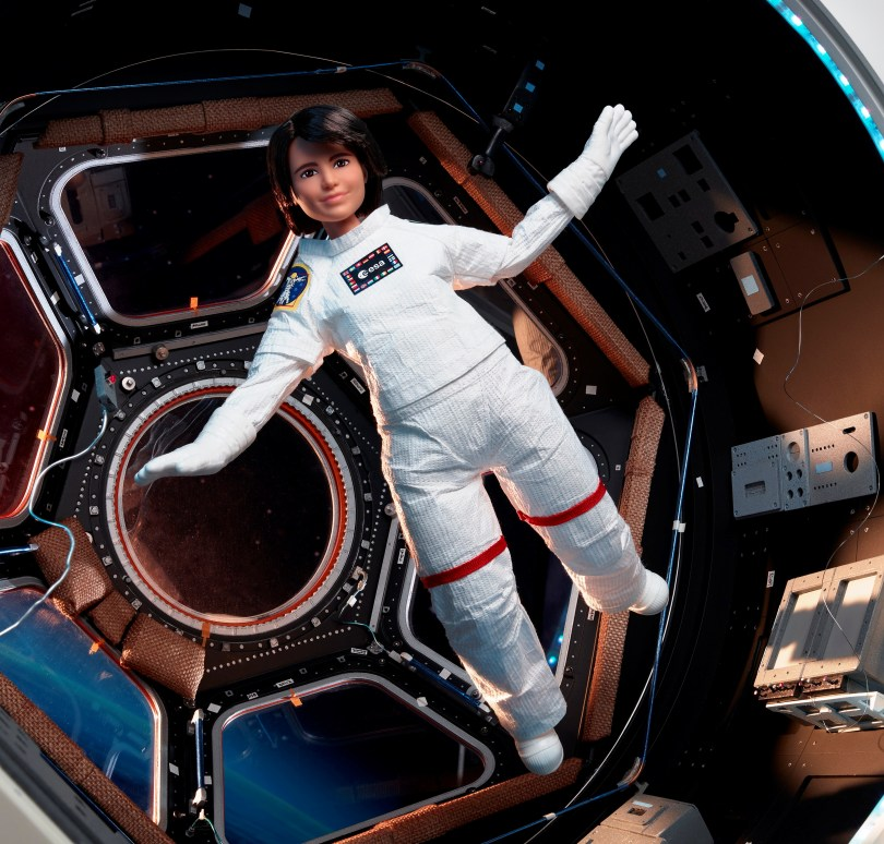 A Barbie doll version of an Italian astronaut Samantha Cristoforetti is seen in this undated handout photo. Courtesy of Mattel/Handout via REUTERS