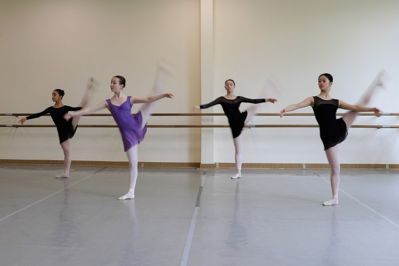 British ballerina Rachel Armstrong attends a lesson at the Bolshoi Ballet Academy in Moscow, Russia May 20, 2021. Armstrong, 20, is among the few dancers from England to ever graduate from the renowned Bolshoi Ballet Academy, whose Russian and foreign graduates dance for ballet companies across the globe. Picture taken May 20, 2021. REUTERS/Evgenia Novozhenina