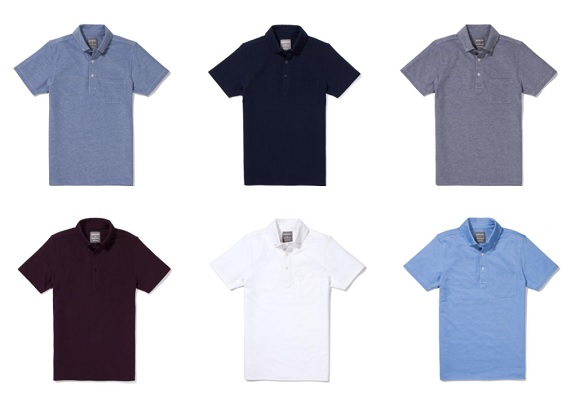 JOMERS: New Button Down Collar Oxford Pique Polos