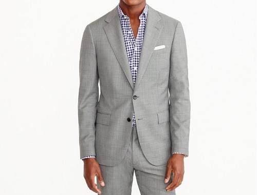 Ludlow Italian Stretch WIDE Lapel Worsted Wool