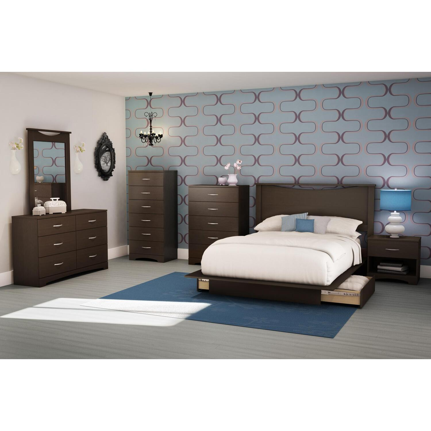 back bay full/queen platform 7 piece bedroom set | ojcommerce