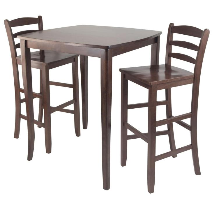 Winsome 3pc Inglewood High Pub Dining Table Ladder Back Stool