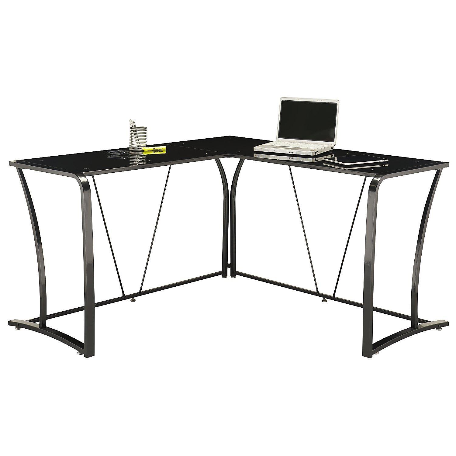 Bush Furniture Metal Amp Glass L Desk By Oj Commerce My