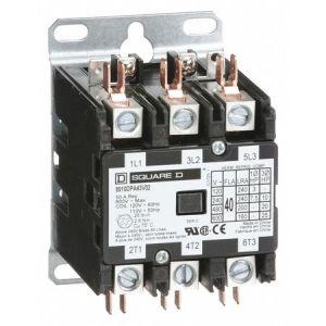 Square D 120VAC NonReversing Definite Purpose Contactor