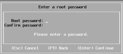 Enter root password
