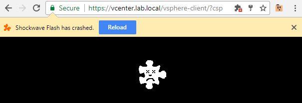 Flash crash in Chrome