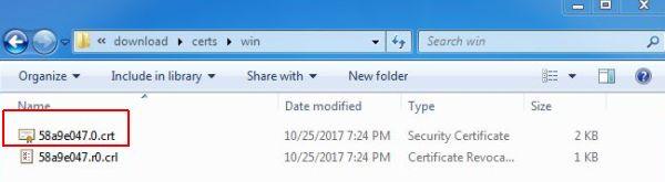 vCenter SSL Certificate - Install CRT File