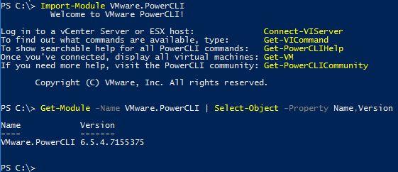 PowerCLI 6.5.4 - Check