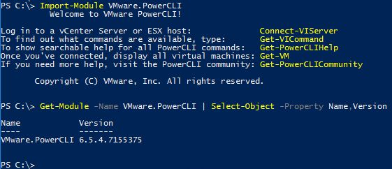 PowerCLI 6.5.4 - Check