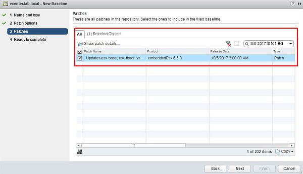 Update ESXi - New Baseline Wizard Patch