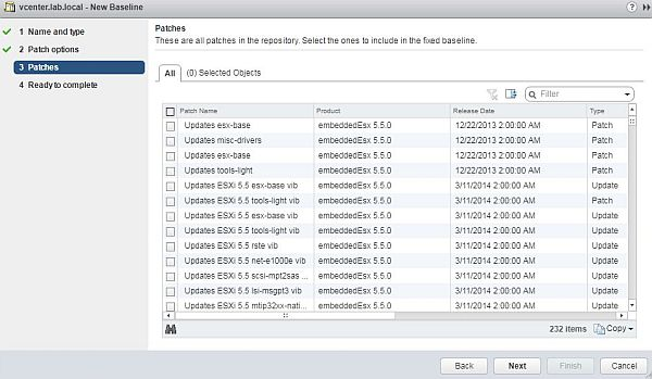 Update ESXi - New Baseline Wizard Patches