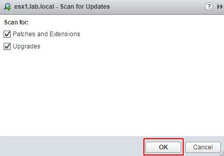 Update ESXi - Scan