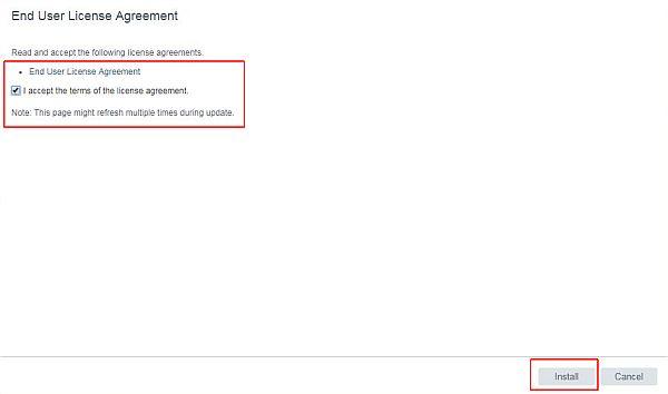 Update vCenter Server Appliance - EULA