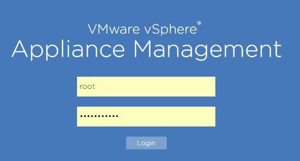 Update vCenter Server Appliance - Login