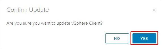 Update vSphere HTML5 Web Client Fling - Confirm