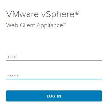 vSphere HTML5 Web Client Fling - Login