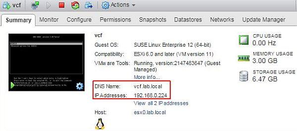 vSphere HTML5 Web Client Fling - Power on