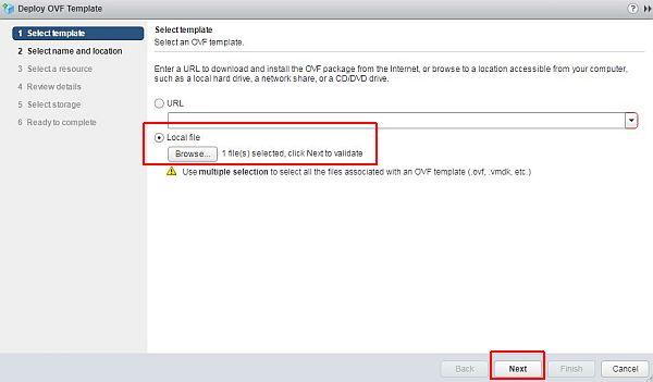 vSphere HTML5 Web Client Fling - Select Template