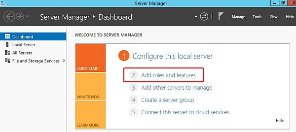 Install Active Directory - Add Roles and Features