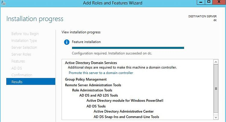 Install Active Directory