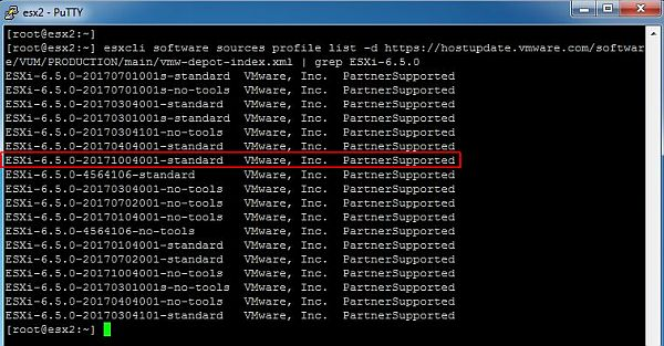 Update ESXi - Check Available Updates