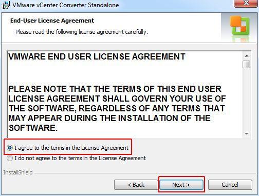vCenter Converter Standalone - EULA