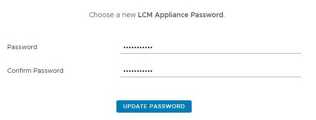 Install vRealize Suite Lifecycle Manager - Change Password