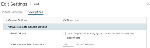 vSphere HTML5 Web Client Fling - Edit VM Maximum Concurrent VMRC Sessions