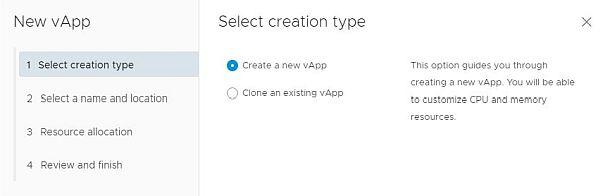 vSphere HTML5 Web Client Fling - New vApp Wizard
