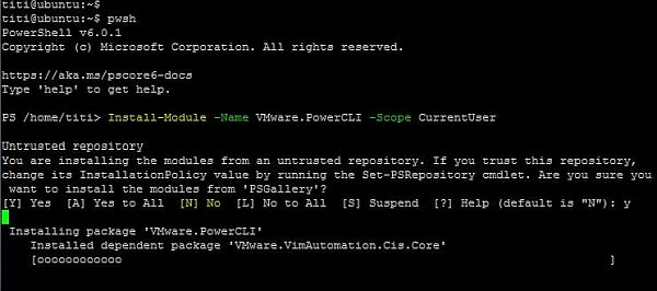 Install PowerCLI 10.0.0