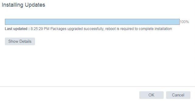 vCenter Server 6.5 U1g – Update Completed