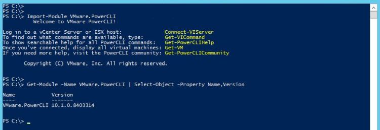 PowerCLI 10.1.0