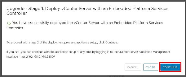 Upgrade vCenter Server Appliance from 6.5 to 6.7 - Deploy VCSA Completed