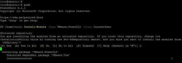 PowerCLI 11.1.0 - Install Module PowerCLI 11.1.0.