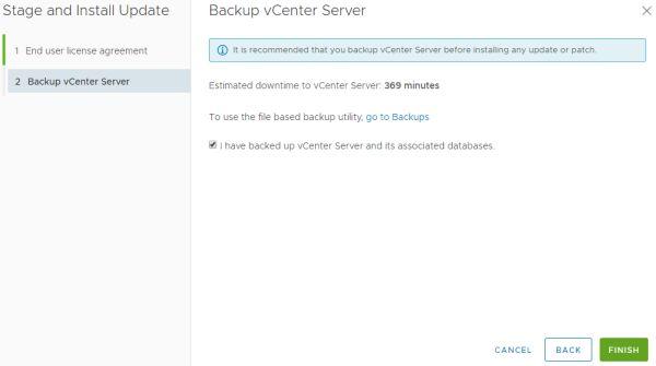 VMware vCenter Server 6.7 Update 3b - Backup Server