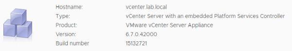 VMware vCenter Server 6.7 Update 3b - Status