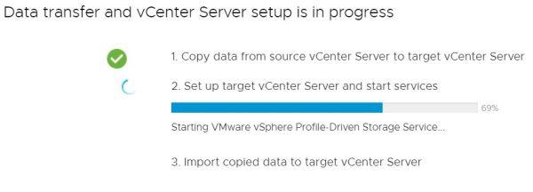 Upgrade vCenter Server Appliance from 6.7 to 7.0 - Setup Target vCenter