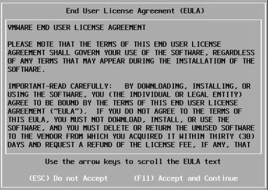 Install vSphere 7.0 - EULA