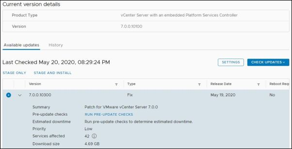 vCenter Server 7.0.0a - Stage and Install
