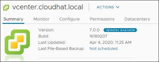 vCenter Server 7.0.0a - build 16189207