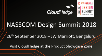 CloudHedge Exhibiting at the Nasscom Design Summit 2018