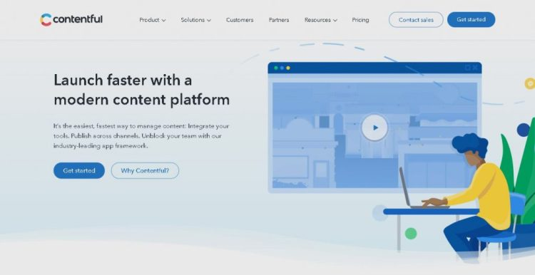 a screenshot of the Contentful.com website