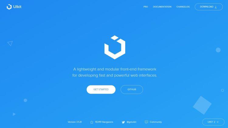 the UIkit website