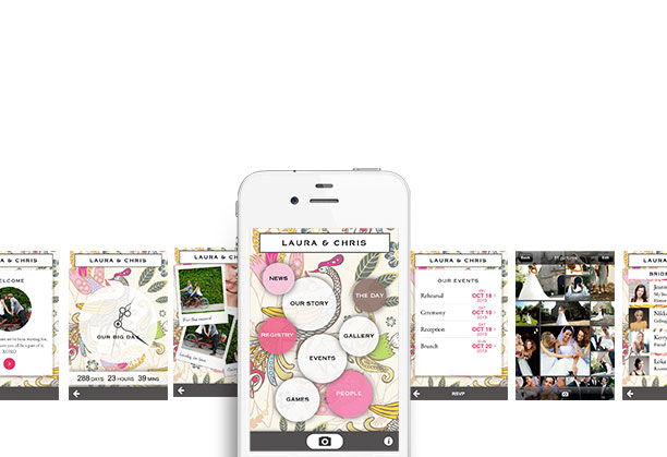 Appy Couple - Wedding app for iPhone, iPad and Android + Free wedding website
