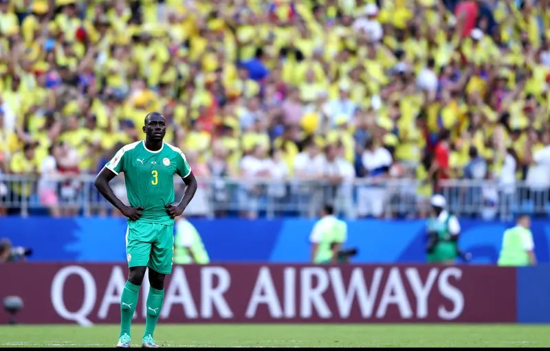 SAMARA, RUSSIA - JUNE 28:  Kalidou Koulibaly of Senegal looks dejected following his sides defeat in the 2018 FIFA World Cup Russia group H match between Senegal and Colombia at Samara Arena on June 28, 2018 in Samara, Russia.  (Photo by Simon Hofmann - FIFA/FIFA via Getty Images)