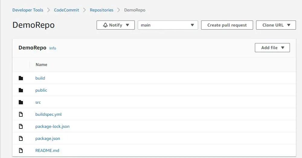 create codecommit repo using cloudformation