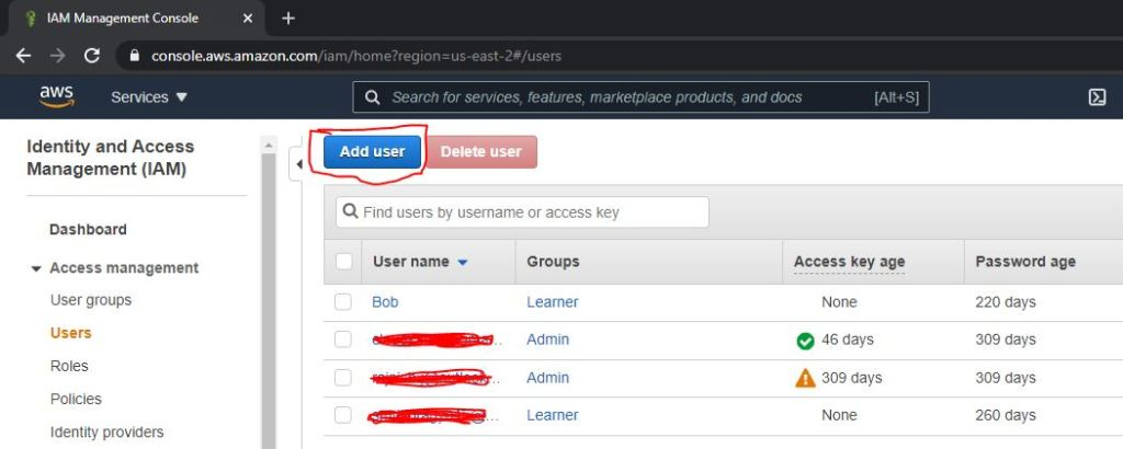 How to create an IAm user in aws step by step 3